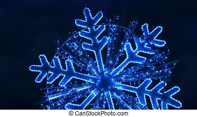 Sparkling snowflake isolated.