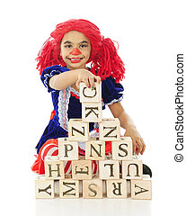 "Rag Doll Playing Blocks - An adorable elementary ""rag doll""..."