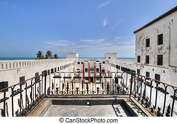 Ghana:, Elmina, castillo, mundo, herencia, sitio, historia,...