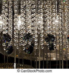 Chrystal, lustre, close-up., charme, fond, à, copie,...