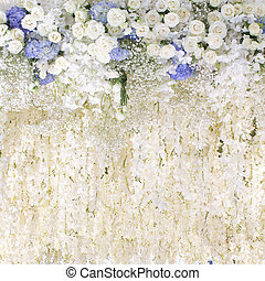 wedding white flowers background