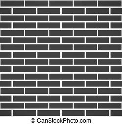 Black brick wall seamless pattern Vector - Black brick wall...