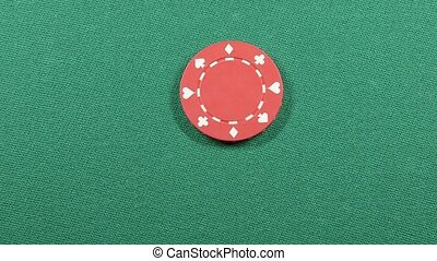 Casino poker chips gambling concept - Poker game gambling...