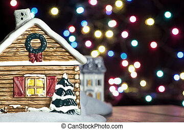 Christmas House Background