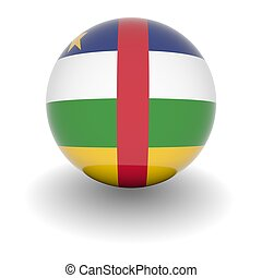 High resolution ball with flag of the Central African Republic