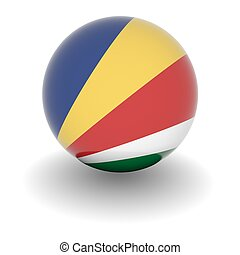 High resolution ball with flag of the Seychelles