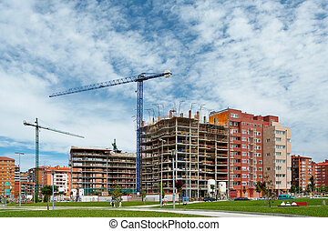 edificio, construcción