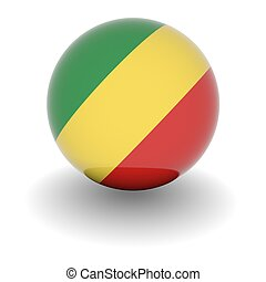 High resolution ball with flag of the Republic of the Congo
