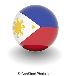 High resolution ball with flag of Philippines