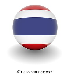 High resolution ball with flag of Thailand - 3D Ball with...