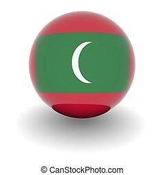 High resolution ball with flag of the Maldives