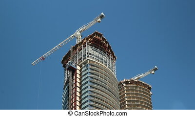 Condo construction Toronto. Tlapse. - Timelapse of...