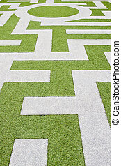 Detail of a grass labyrinth