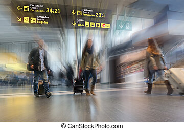 International Travel - Airline Passengers in an...