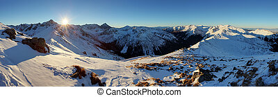 Winter mountain in Poland, Kasprowy - Winter mountain in...
