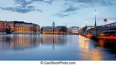 Stockholm, Sweden Riksdag parliament building