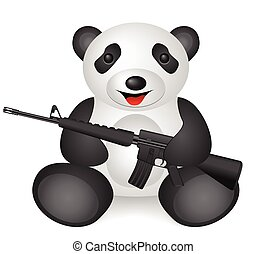 panda M16 - Panda M16 on a white background.