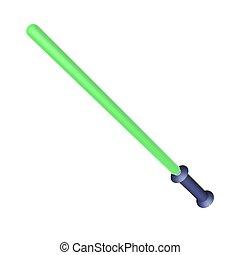Laser sword isolated over white, 3d render