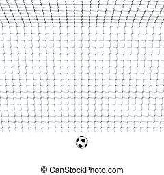 futbol, meta, con, Pelota,