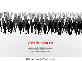 Large group of people background
