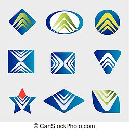 Vector icons logo element abstract