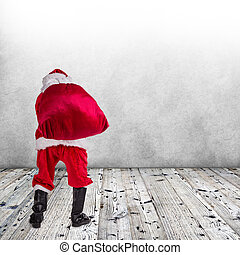 Christmas Santa Claus - Photo of Santa Claus with eyeglasses...