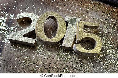 golden figures 2015 - 2015 golden figures untidy on wooden...