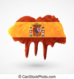 Flag of Spain painted colors
