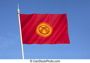 Flag of Kyrgyzstan - adopted on 3rd March 1992 by the...