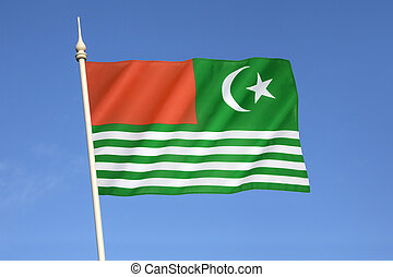 Flag of Kashmir - India - The regional flag of Kashmir -...