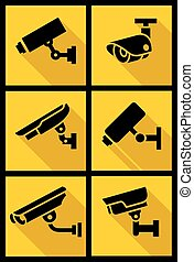 Video surveillance, set yellow square