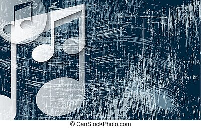 transparent music symbol and scratched background