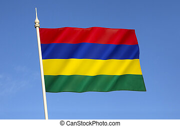 Flag of Mauritius - Adopted on independence on 12th March...