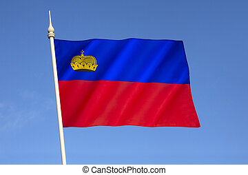 Flag of Liechtenstein - Adopted in October 1921 after being...