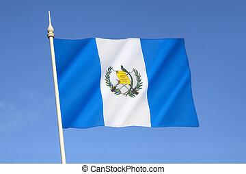 bandera, de, guatemala,