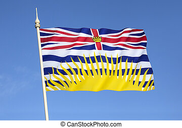 Flag of British Columbia - Canada. Based upon the shield of...