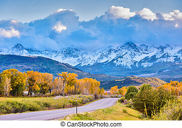 Autumn in Colorado - Golden fall, Scenic road in Colorado...