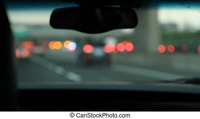 Highway accident Defocused - Driving by an accident scene...