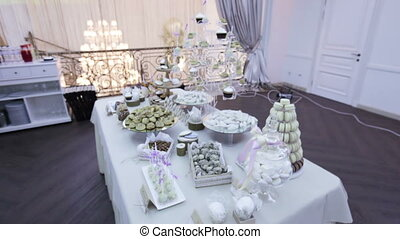 Wedding sweets - Table with different wedding sweets