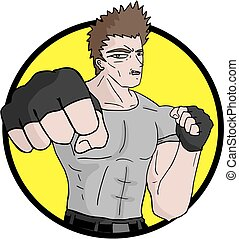 icon martial arts - Creative design of icon martial arts