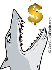 Shark dollar - Creative design of shark dollar