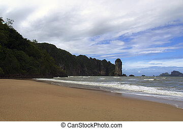 Beachfront. - Beachfront, Sand and Sea in Krabi Province,...