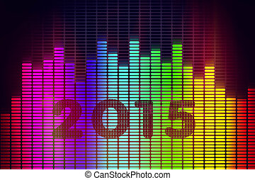 New Year background with music equalizer