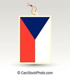 vector simple price tag - symbol of made in czech republic -...