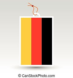 vector simple german price tag - symbol of made in germany -...