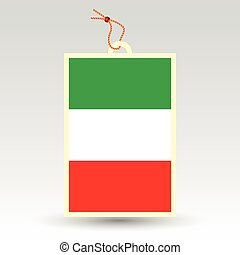 vector simple italian price tag - symbol of made in italy -...
