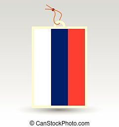 vector simple russian price tag - symbol of made in russia -...