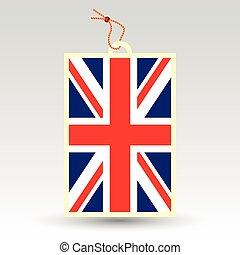 vector simple british price tag - symbol of made in united...