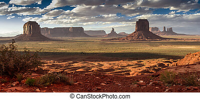 Monument Valley - View of Monument Valley in indian...