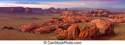 Hunt's Mesa, Monument Valley - View from Hunt's Mesa,...